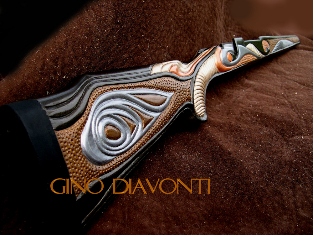 Gino diavonti fine artist and sculptor custom carved gunstocks